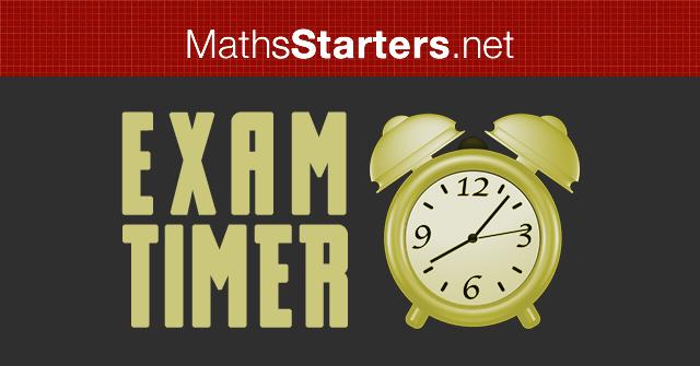 Exam Timer - MathsStarters